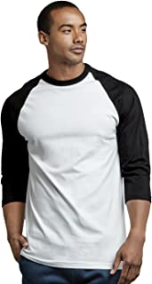 Men's 3/4 Sleeve Casual Raglan Jersey Baseball Tee Shirt