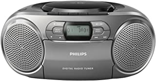 Philips Portable CD Radio Recorder AZB600/12 Portable CD Player (Dynamic Bass Boost, DAB+, CD/Tape Deck, 3.5-mm Audio Inpu...