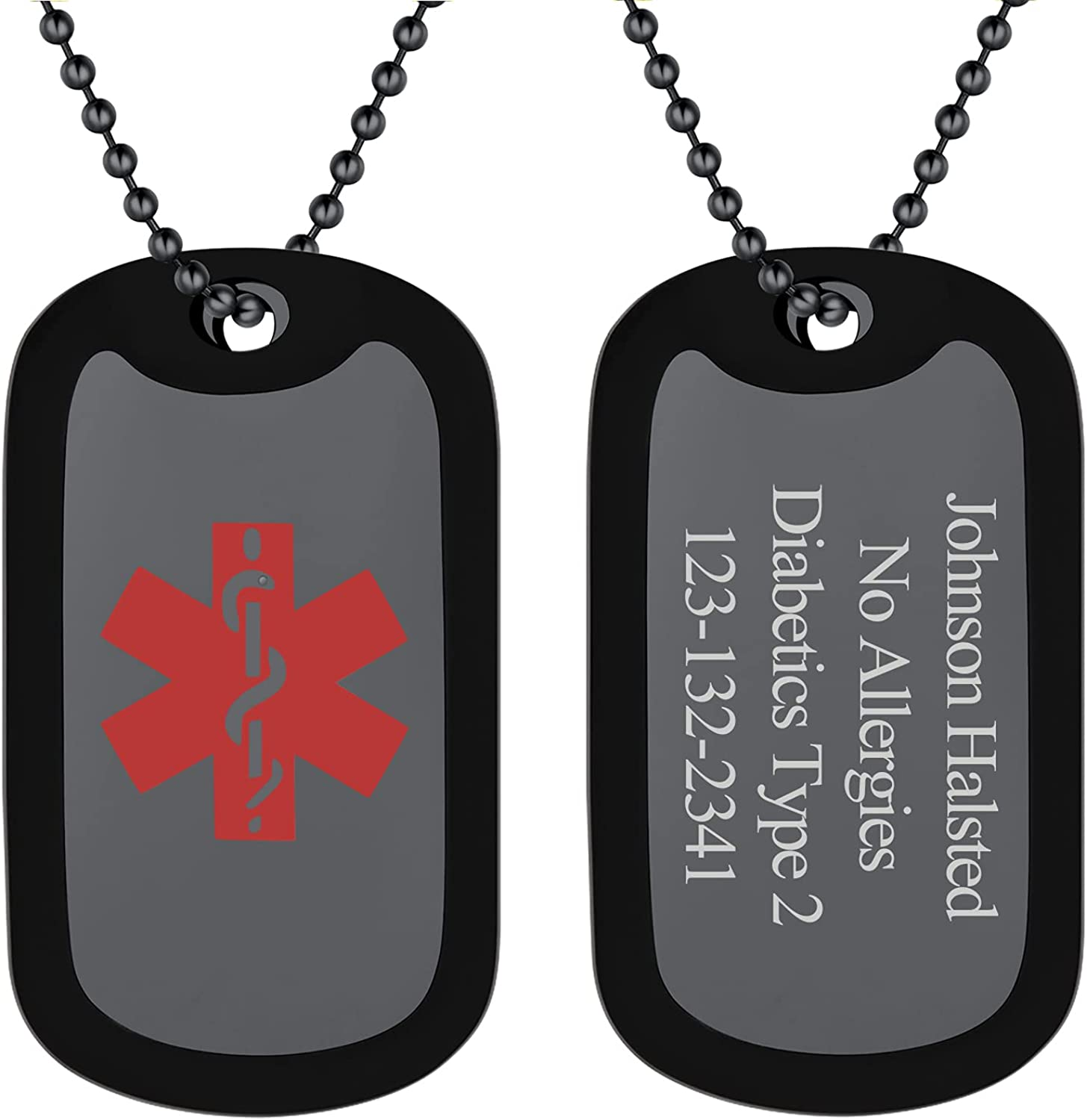 Max Max 86% OFF 85% OFF FindChic Dog Tags Personalized Necklace Cu Silencer Men with for