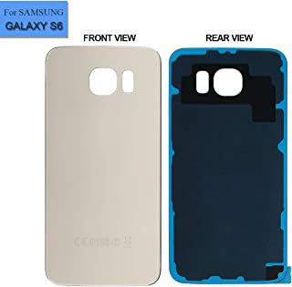Replacement Back Glass Cover Back Battery Door Compatible with Samsung Galaxy S6 G920A G920T G920P G920R G920V with Tool Gold