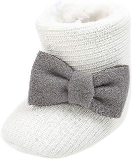 [BAOMABA] ベビーシューズ 子供靴 コットンブーツ 幼児の靴 出かけ パーティー 滑り止め 暖かい ソフトソール 新生児サイズ 出産祝い かわいい 蝶結び ファッション ガールズ