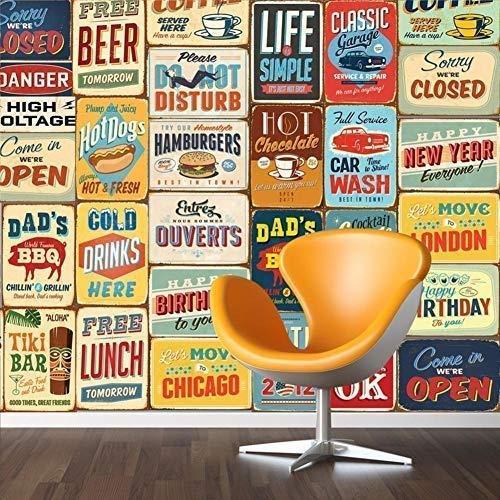"""Walplus 152x161 cm Adhesivos de Pared \""""Vintage Letrero Metal Collage\"""" 1 Paquete extraíble Autoadhesivo Arte Mural VINILO DECORACIÓN HOGAR BRICOLAJE Living Oficina Dormitorio Decor papel pintado,"""