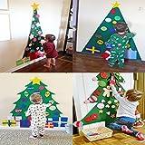 COOFIT Filz Weihnachtsbaum,Weihnachten Deko 3.2ft DIY Filz Weihnachtsbaum Set mit 28 Pcs Deko Weihnachten Weihnachtsspiel Kinder Spielzeug - 3