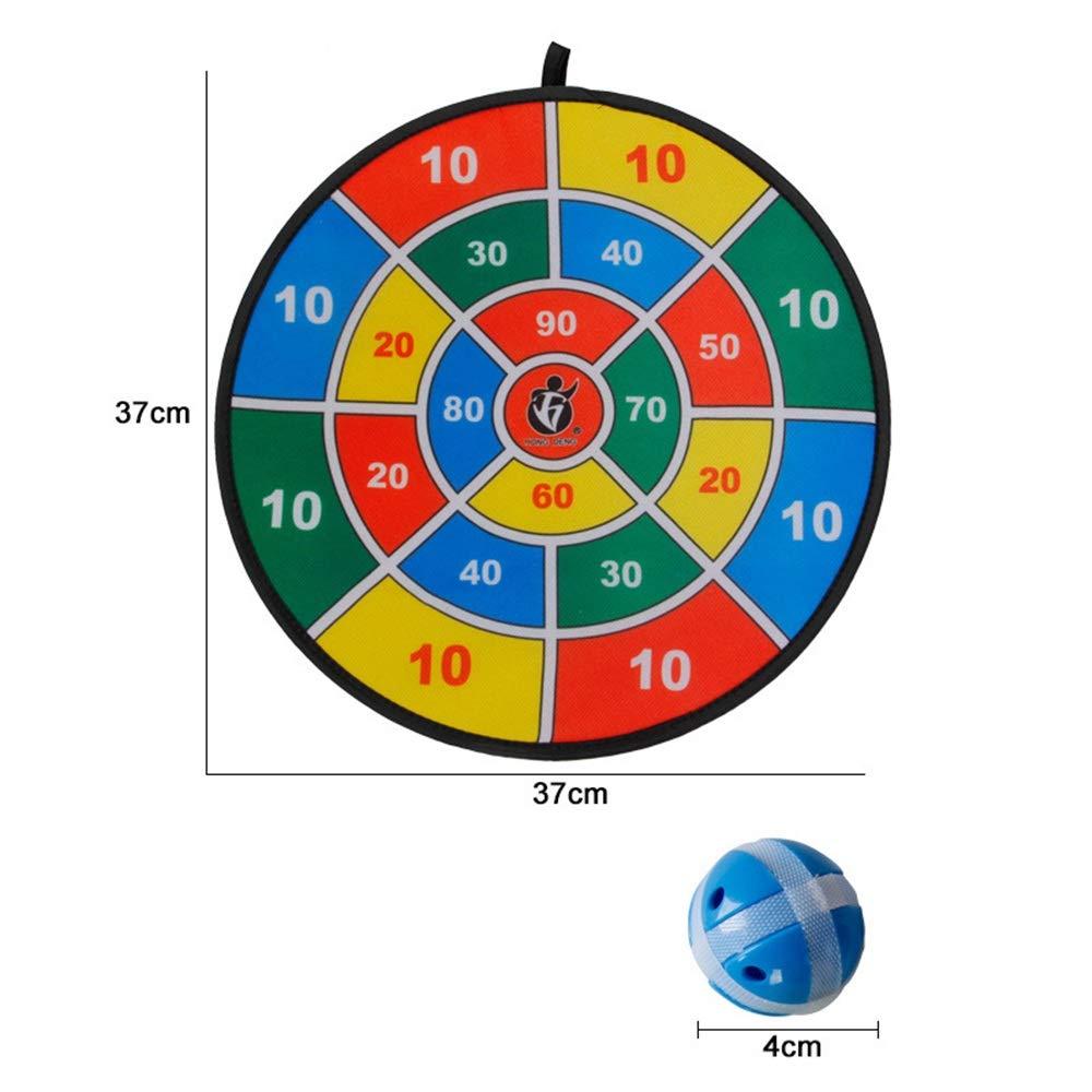 BESISOON Padre-Hijo Interactivo Juguetes Juego de Mesa Abric Dart con 6 Bolas usando Sujetadores de Gancho y Lazo | Grande - 14,5 Pulgadas (37 cm) de diámetro | Seguro para los niños: Amazon.es: Hogar