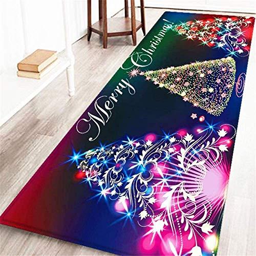 FENGLI Weihnachten Bereich Teppich Festival Celebration Rechteckige Weiche Teppiche Anti-Rutsch-Willkommen Eingang Teppich-Läufer for Wohnkultur (Color : Style5, Size : 60 * 180CM)