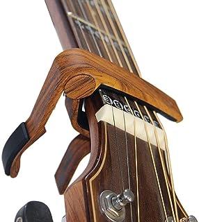 BestSounds ギターカポタスト アコギカポ ワンタッチ式 guitar capo エレキギター/ウクレレ/アコースティックギター用カポタスト(木目調)