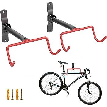 Housolution Soporte de Pared para Bicicleta Práctico, [2 PZS] Herramienta para Colgar Bicicletas de Montaje en Pared de Servicio Pesado, Ganchos de Pared de Garaje para Ahorrar Espacio – Naranja: Amazon.es: Hogar