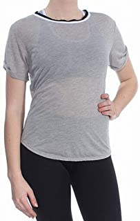 Free People Gray Women's Size Small S Open Back Contrast Knit Top