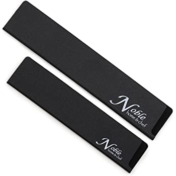 """2-Piece Universal Knife Edge Guards (8.5"""" and 10.5"""") are More Durable, Non-BPA, Gentle on Your Blades, and Long-Lasting. Noble Home & Chef Knife Covers Are Non-Toxic and Abrasion Resistant!"""