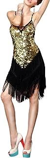 Backless Fringe Sequin Salsa Latin Skating Ballroom Dance Dress Styles
