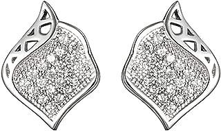 Onefeart Chapado en Oro Aretes para Mujeres Niñas Elegance