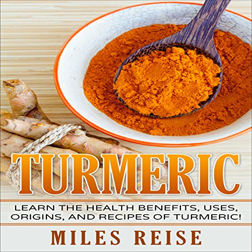 Turmeric     Learn the Health Benefits, Uses, Origins, and Recipes of Turmeric and Turmeric Essential Oil!              By:                                                                                                                                 Miles Reise                               Narrated by:                                                                                                                                 Gene Blake                      Length: 28 mins     Not rated yet     Overall 0.0
