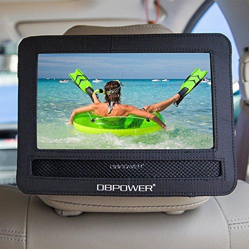 DBPOWER 10/10.5 Car Headrest Mount Holder Strap Case for Swivel & Flip Style Portable DVD Player (10-10.5)