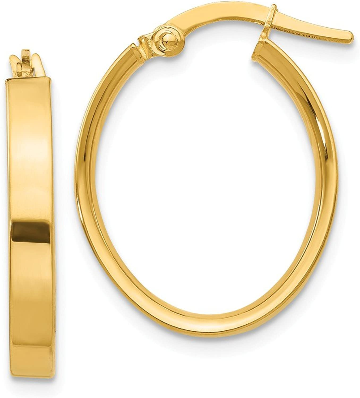 Beautiful Yellow gold 14K Yellowgold 14K Oval Hoop Earrings