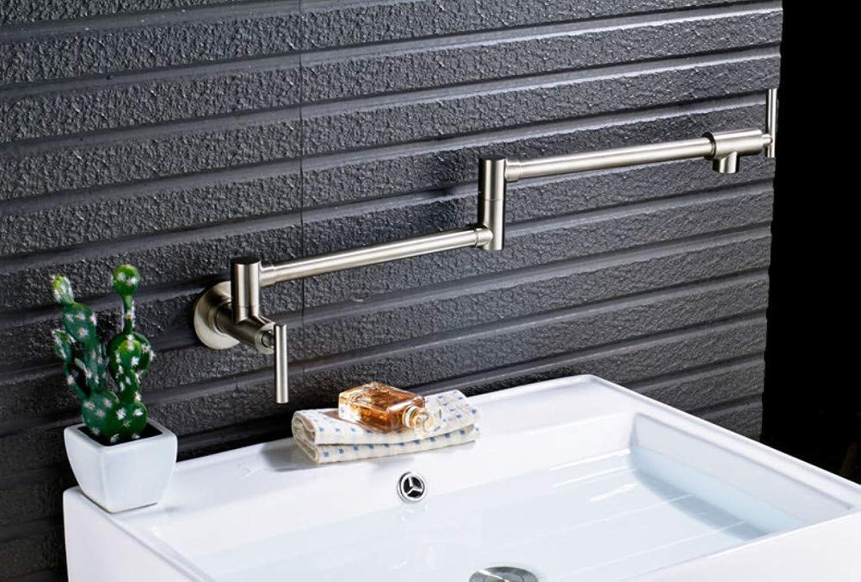 CZOOR Wandmontage Kaltwasser Klapp Küchenarmatur Einzigen Handgriff Versenkbare Swivel Bad Eitelkeit Waschbecken Wasserhhne