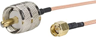 2pcs SMA Male to UHF PL-259 Male Cable Connector Eagles (TM) 12inch/30cm/1ft RF Coaxial Coax Cable Assembly