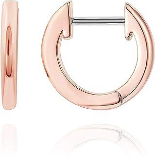 14K Gold Plated Cuff Earrings Huggie Stud | Small Hoop...