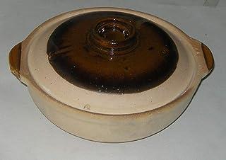 Pot et couvercle fait main Argile 22cm de diamètre Fond plat 7cm de profondeur Garantie de qualité