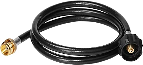 DOZYANT 5 Feet Propane Adapter Hose 1 lb to 20 lb Converter Replacement for QCC1/Type1 Tank Connects 1 LB Bulk Portable Appliance to 20 lb Propane Tank - Safety Certified