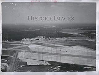 Vintage Photos 1954 Press Photo Aerial View of Pope Air Force Base in North Carolina.