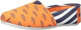 FOCO NFL Womens Canvas Stripe Slip On Shoes