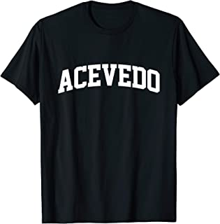 Acevedo Name Family First Last Retro Sports Arch T-Shirt