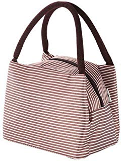 Aigemi Lunch Bag Tote Bag Lunch Organizer Lunch Holder Lunch Container for Women Men Kids (Coffee)