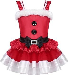 Toddlers Girls Christmas Santa Claus Costume Princess Bowknot Tutu Dress Xmas Cosplay Party Outfits