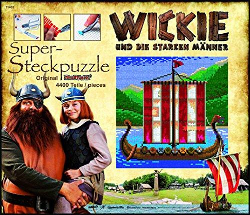 Cartronic 11402 - Wickie-Steckbild, Wikinger-Schiff, 40 x 40 cm