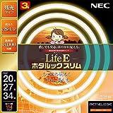 NEC 丸形スリム蛍光灯(FHC) LifeEホタルックスリム 114W 20形+27形+34形パック品 電球色 FHC114EL-LE-SHG