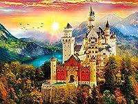 500ピース ジグソーパズル ノイシュヴァンシュタイン城 教育玩具の誕生日プレゼント 大人と子供のため 解圧游戏