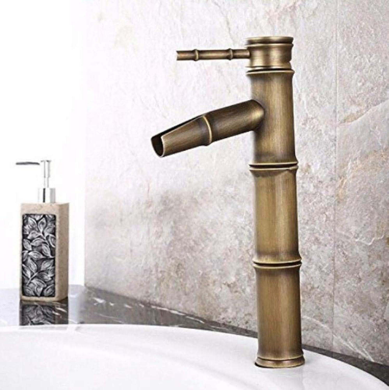 Retro Wasserhahn Wasserhahn Wasserhhne Becken Wasserhahn Antique Brass Square Pattern Warmwasser Cold Sink Mixer