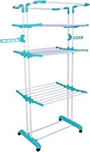 Bathla Mobidry Giga - Extra-Large 4 Level Modular Cloth Drying Stand with Weather Resistant Frame (Blue)
