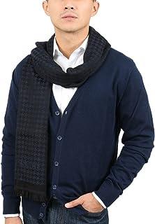 Versace IT00631 MARINO Navy Blue 100% Wool Mens Scarf