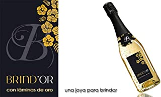 Brindor El Mejor Vino con Láminas de Oro de 22 kilates para