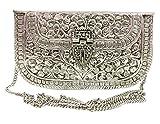Gannu Clutch de metal de latón hecho a mano bolso nupcial para niña Artículo de regalo para fiesta de mujer Bolso...