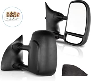 ECCPP Towing Mirrors Replacement fit for 1999-2007 for Ford F250 F350 F450 F550 Super Duty Tow Mirrors Black Manual Adjusted Mirrors Driver Side and Passenger Side