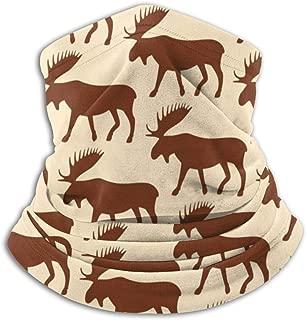 Moose Outline Pattern Neck Warmer Gaiter Balaclava Ski Mask Cold Weather Face Mask Winter Hats Headwear for Men Women Black