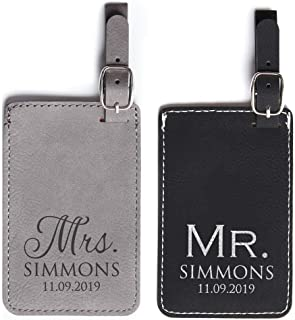 Best personalized mr and mrs luggage tags Reviews