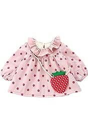 Weixinbuy Toddler Girl Long Sleeve Warm Fleece Strawberry Pullover Blouses T Shirt Tops