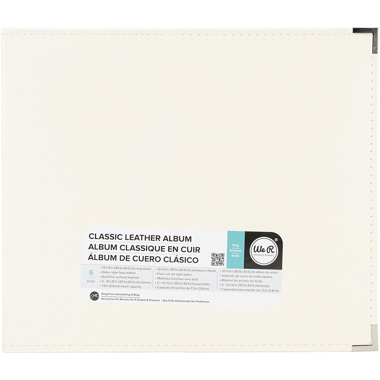 We R Memory Keepers 660903 Classic Leather D-Ring Album 12