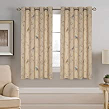 H.VERSAILTEX Blackout Grommet Curtains for Living Room Noise Reducing Thermal Insulated Window Curtain Drapes for Bedroom (2 Panels, 52