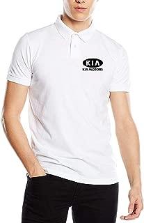 Syins Man Design Fashion Tees KIA_Motors Logo Black Polo Shirts