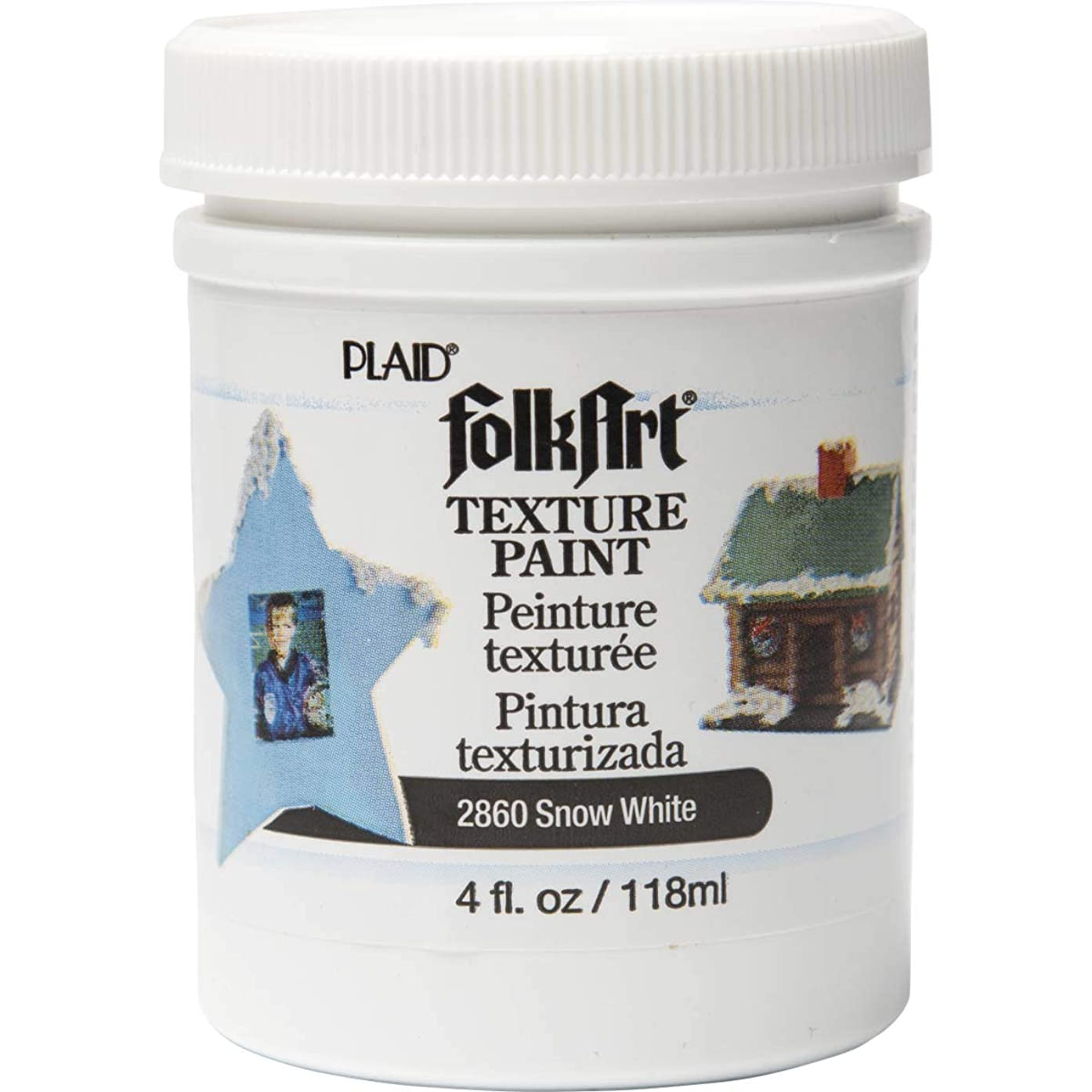 FolkArt Texture Paint in Assorted Colors (4 Ounce), 2860 White