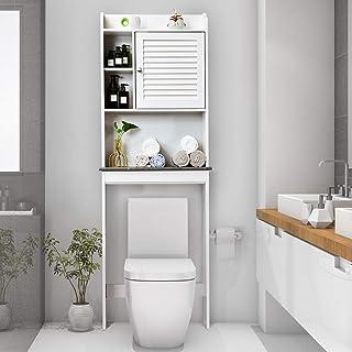 "Giantex Over-The-Toilet Space Saver Collette Bathroom Spacesaver W/Storage Rack Cabinet Bathroom Organizer (68.5"" H)"