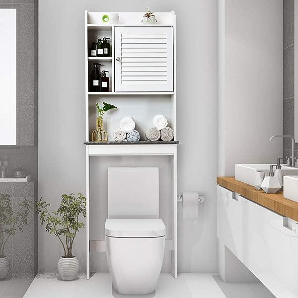 Giantex Over The Toilet Space Saver Collette Bathroom Spacesaver W Storage Rack Cabinet Bathroom Organizer 68 5 H