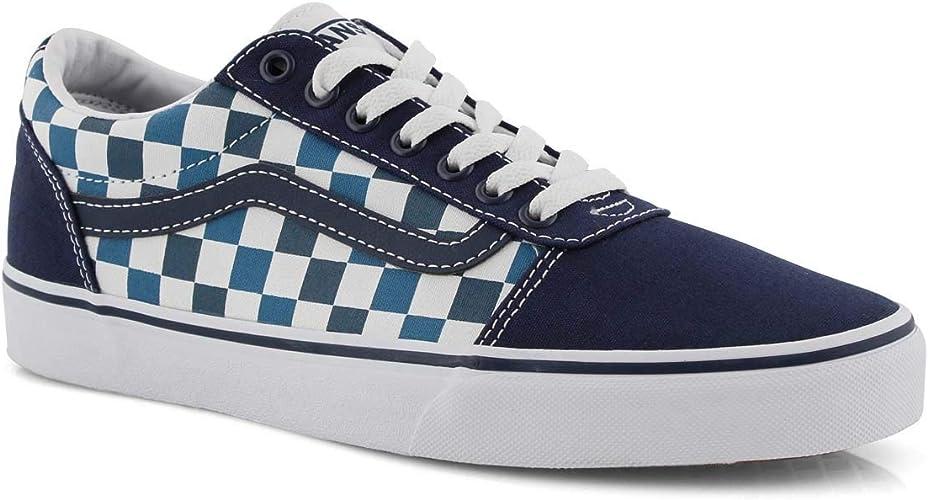 Vans Ward Damier à lacets Bleu, Bleu (bleu), 42.5 EU : Amazon.fr ...