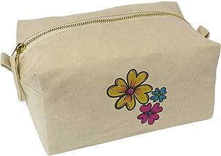 'Beautiful Flowers' Canvas Wash Bag / Makeup Case (CS00019663)