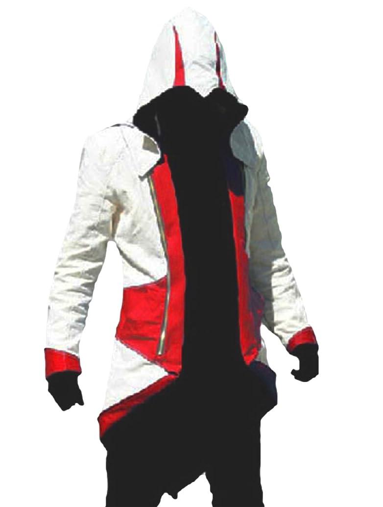 TEENTAGE Men's Costume Hoodie Jacket Cosplay Coat with Attachable Hood