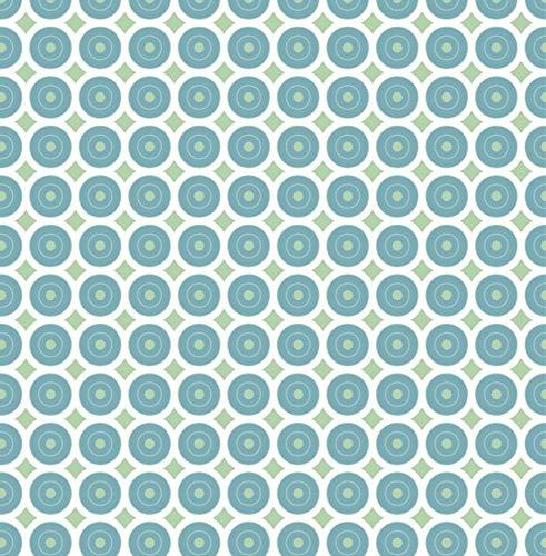 Venilia Klebefolie Awale Grün Motiv, Geometrische-Optik, Dekofolie, Möbelfolie, Tapeten, Selbstklebende Folie, PVC, ohne Phthalate, bunt, 45 cm x 2 m, Stärke 95µ (0,095 mm), 54783